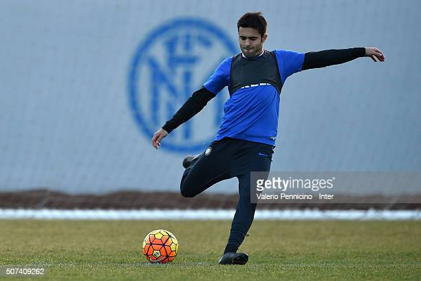 Citadin Martins Eder of FC Internazionale Milano in action during FC Internazionale training session at the club's training ground at Appiano Gentile...