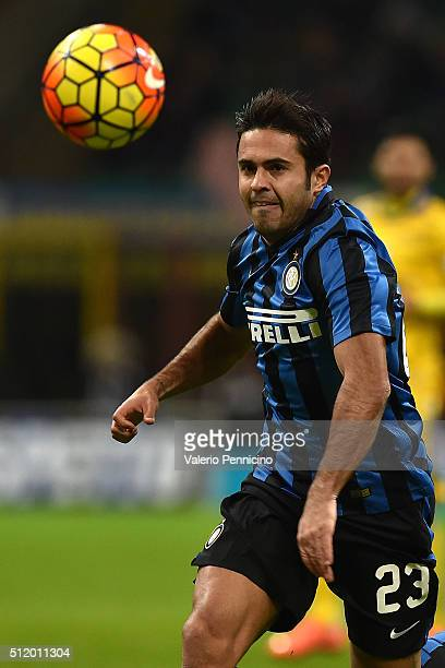 Citadin Martins Eder of FC Internazionale Milano in action during the Serie A match between FC Internazionale Milano and UC Sampdoria at Stadio...