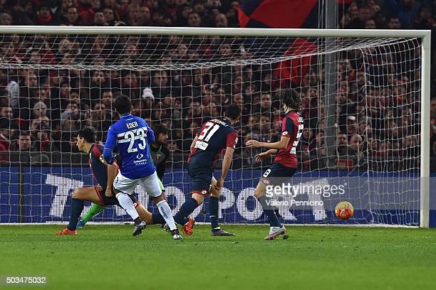 Citadin Martins Eder of UC Sampdoria scores a goal during the Serie A match between Genoa CFC and UC Sampdoria at Stadio Luigi Ferraris on January 5...