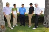 Citi Mentor Program Golfers Derek Fathauer James Nitties Paul Azinger Brian Vranesh and Jimmy Walker pose for the Citi /Golf Channel Sony Open golf...