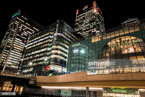 Citibank and Waitrose Headquarters at Canary Wharf, London, UK