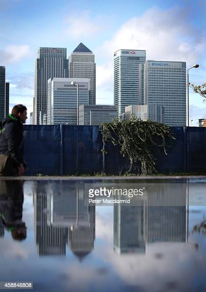 Citibank Barclays and HSBC headquarters buildings at Canary Wharf on November 12 2014 in London England Five banks have been fined £2 billion by...