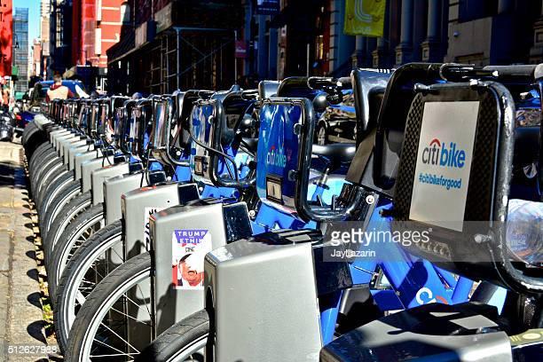 Citibike de bicicletas públicas de SoHo, Manhattan, Nova Iorque