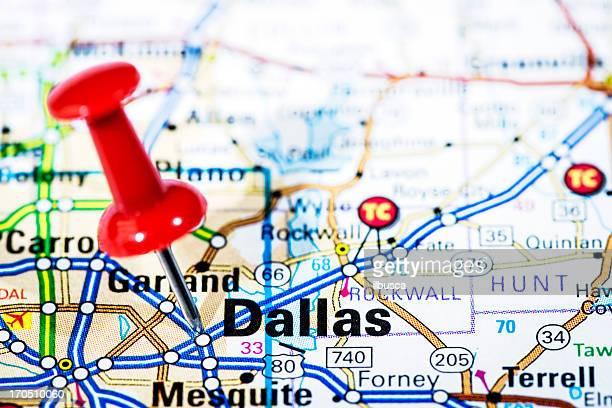 US cities on map series: Dallas, Texas