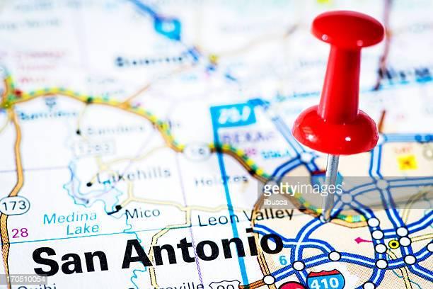 Ciudades en Mapa de serie: San Antonio, Texas