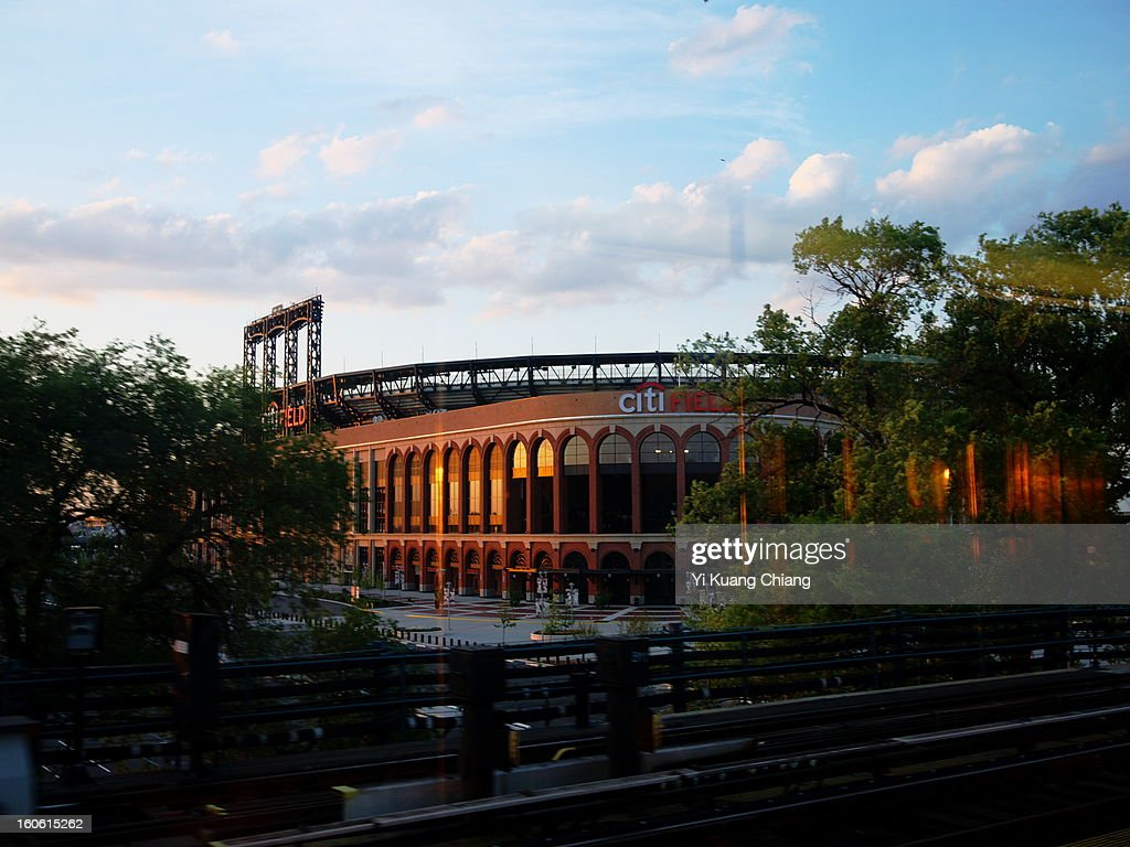 CONTENT] Citifield stadium located Flushing Meadows/Corona Park, home of the MLB New york Mets, shot made on train 7 during sunset.