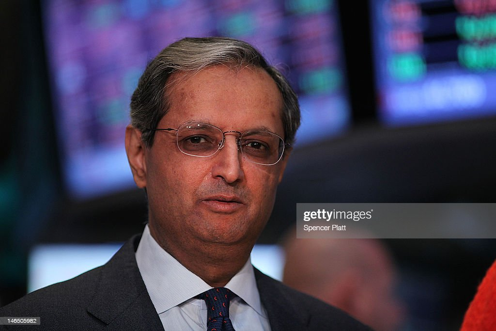Citigroup's CEO <a gi-track='captionPersonalityLinkClicked' href=/galleries/search?phrase=Vikram+Pandit&family=editorial&specificpeople=5610048 ng-click='$event.stopPropagation()'>Vikram Pandit</a> pauses on the floor of the New York Stock Exchange on June 18, 2012 in New York City. After early gains in world markets due to the Greek voters rejecting the leftist anti austerity party, the Dow Jones industrial average dell 52 points, or 0.4%. in morning trading.