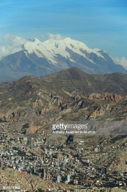 Citiscape from El Alto viewpoint on November 2016 in La Paz Bolivia