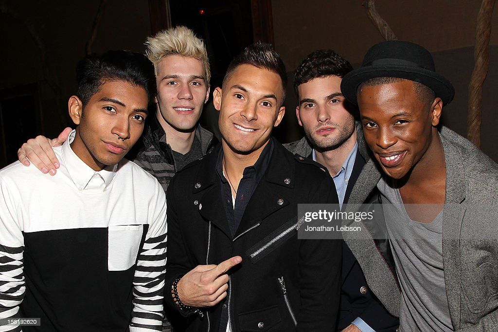Citizen band members attend the 'Save the Date' Screening Hosted By genart And Brancott Estate Wines at Hyde Lounge on December 10, 2012 in Los Angeles, California.