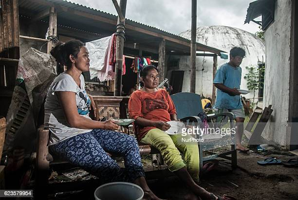 Citizens activity in her house in New Ngelepen village Yogyakarta Indonesia on November 15 2016 This village is home to residents affected by the...