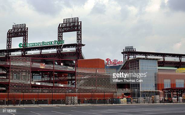 Citizen's Bank Park the new home of the Philadelphia Phillies is nearly completed March 21 2004 in Philadelphia Pennsylvania Philadelphia Phillies...