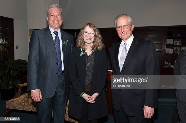 Citizens Crime Commission of New York City president Richard Aborn Mia Farrow and John Jay College of Criminal Justice president Jeremy Travis attend...