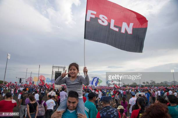 Citizens from all over Nicaragua travel to the capital Managua to celebrate the anniversary of the triumph of the revolution in Chichigalpa Nicaragua...