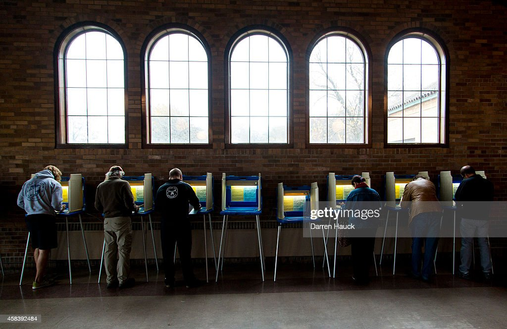 Citizens go to the cast their ballots at the South Shore Park building on election day November 4 2014 in Milwaukee Wisconsin Republican Gov Scott...