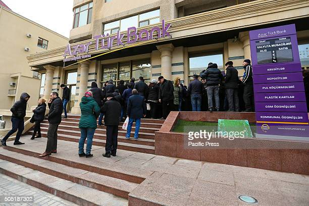 Citizens of Baku stay on the line in front of Azer Turk Bank On Friday the Azerbaijani banks still did not sell dollars and euros Buying foreign...