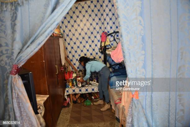Citlali Sanchez shows her home at a shelter for survivors of Mexico's 1985 earthquake that killed more than 10000 people in Mexico City on October 18...