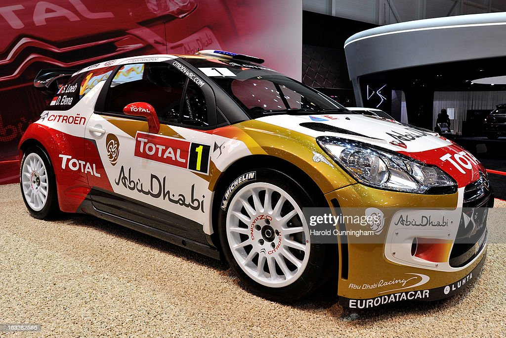 A Citroen DS3 WRC Rally car is seen during the 83rd Geneva Motor Show on March 6, 2013 in Geneva, Switzerland. Held annually with more than 130 product premiers from the auto industry unveiled this year, the Geneva Motor Show is one of the world's five most important auto shows.