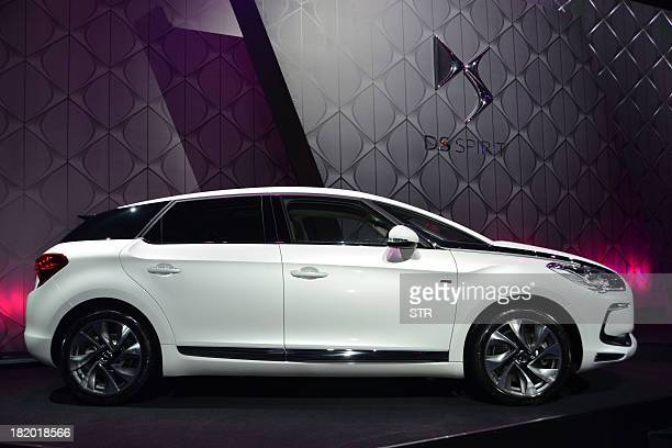 A Citroen DS5 is displayed during its launching ceremony in Shenzhen southern China's Guangdong province on September 27 2013 Launched in 2011 the...