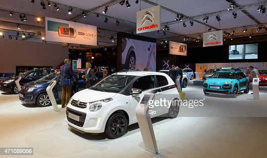 Citroen motor show stand with the C1 and Cactus