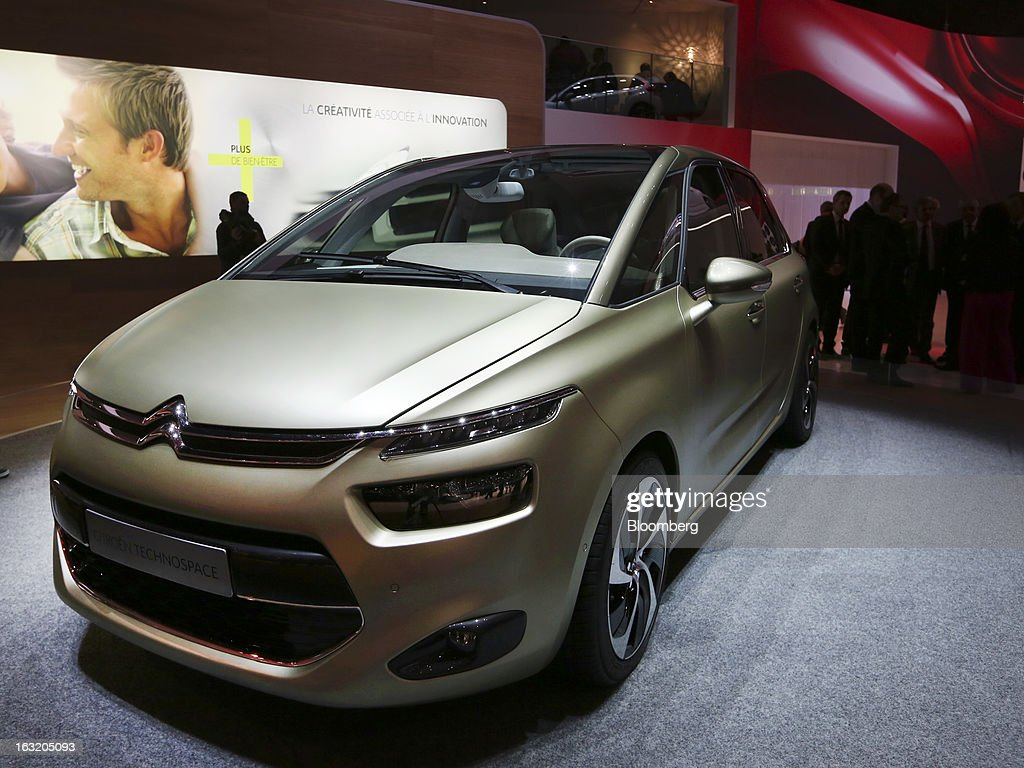 A Citroen Technospace concept automobile, produced by PSA Peugeot Citroen, is seen on display on the second day of the 83rd Geneva International Motor Show in Geneva, Switzerland, on Wednesday, March 6, 2013. This year's show opens to the public on Mar. 7, and is set to feature more than 100 product premiers from the world's automobile manufacturers. Photographer: Chris Ratcliffe/Bloomberg via Getty Images