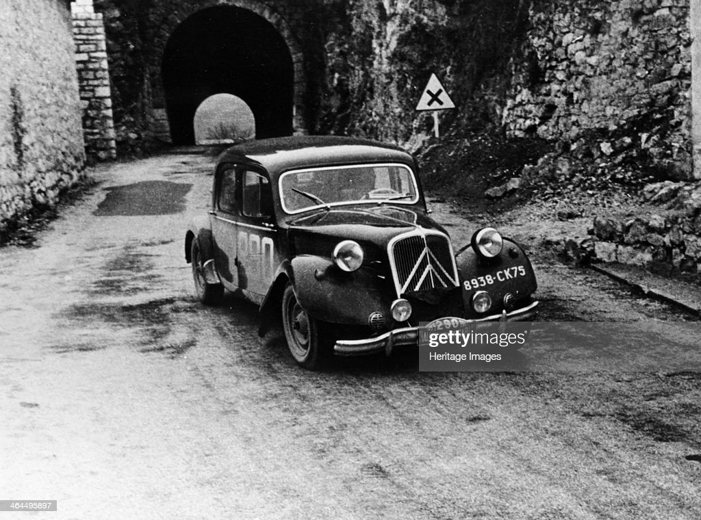 Citroën 15/6 in the Monte Carlo Rally 1955 The car came 10th overall in the race