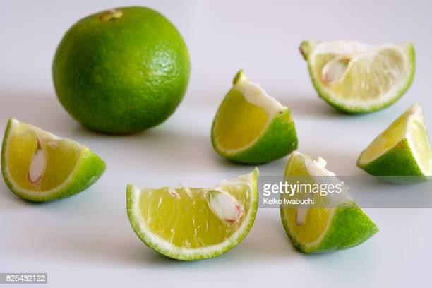 Citrus fruit called Sudachi in Japanese