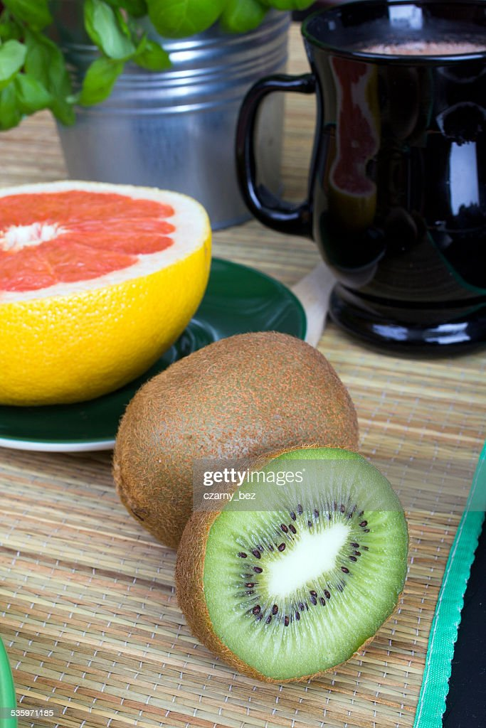 citrus fruit for breakfast : Stock Photo