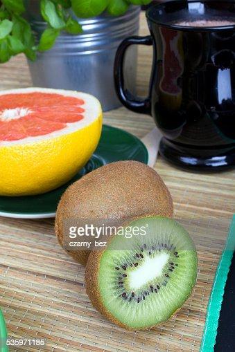 citrus fruit for breakfast : Stock Photo
