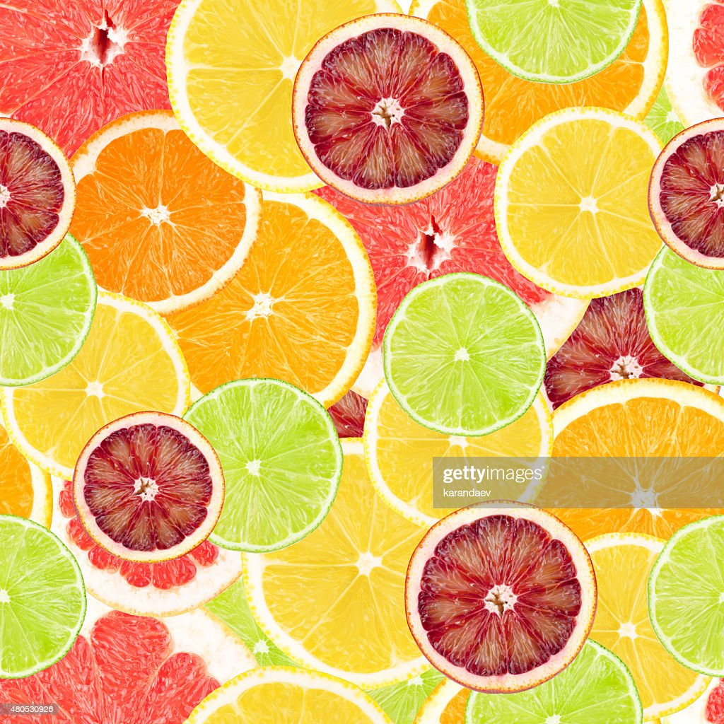 Citrus seamless background : Stock Photo