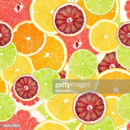Citrus seamless background : Stockfoto