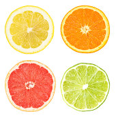 slices of lemon, orange, grapefruit and lime