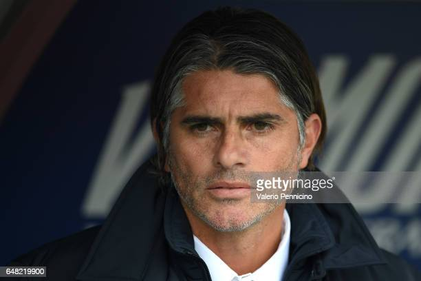 Citta di Palermo head coach Diego Lopez looks on prior to the Serie A match between FC Torino and US Citta di Palermo at Stadio Olimpico di Torino on...