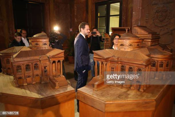 US Citta di Palermo new president Paul Baccaglini attends a visit to Teatro Massimo on March 24 2017 in Palermo Italy