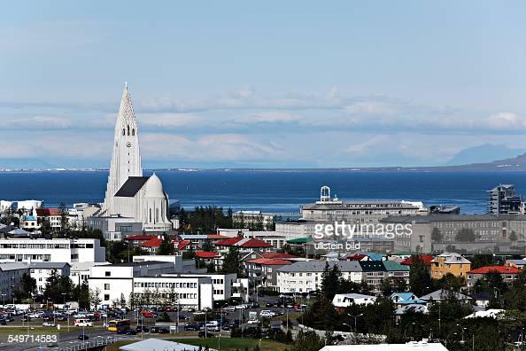 City and Hallgrimskirkja Reykjavik Iceland