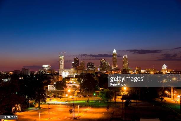City al crepuscolo luce