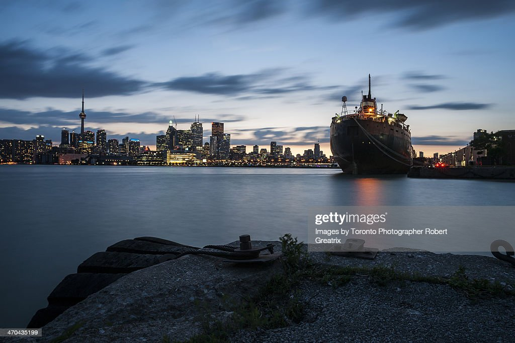 City at Night: Toronto Portlands : Stock Photo