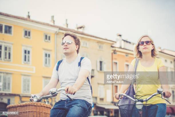 City bike ride, Italy