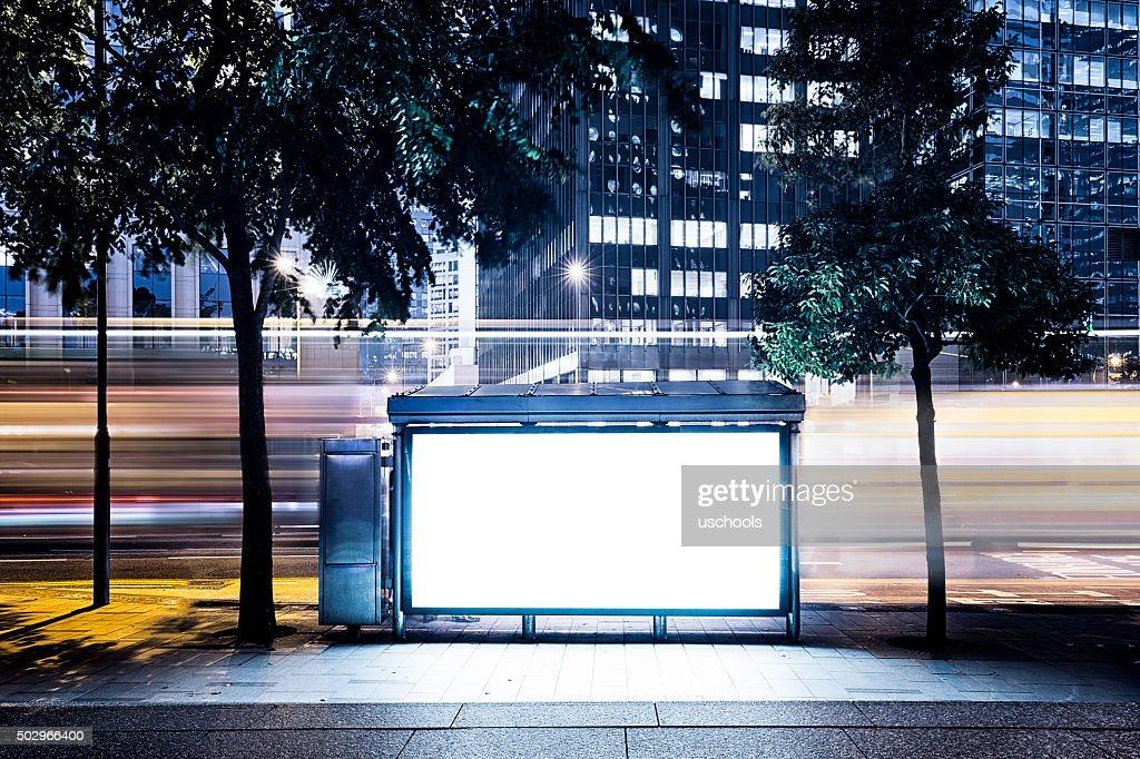 Panneau d'affichage sur la ville : Photo