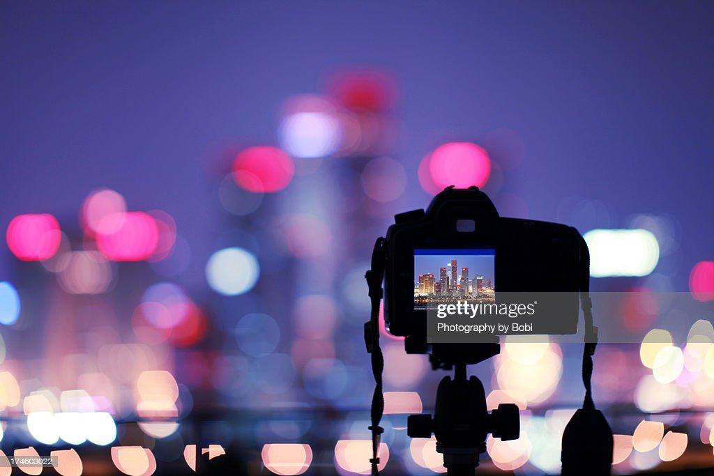 city building Skyscrapers in camera