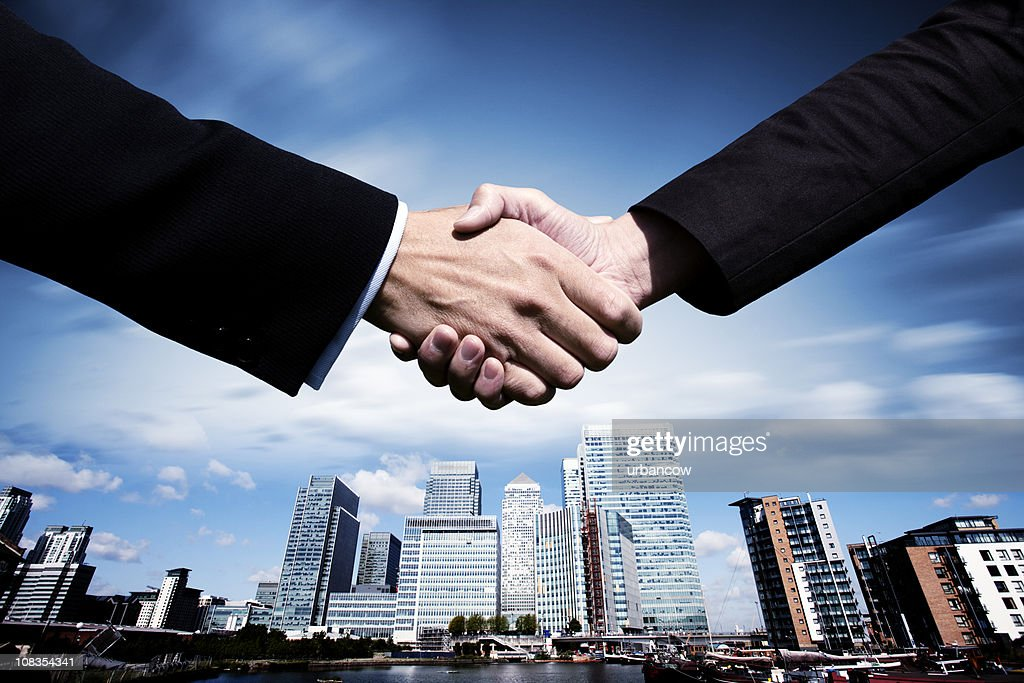 City business deal : Stock Photo