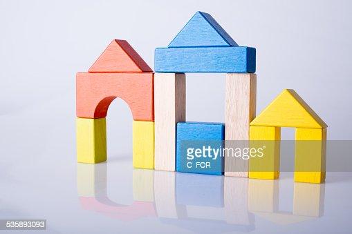 City  by little bricks : Stock Photo