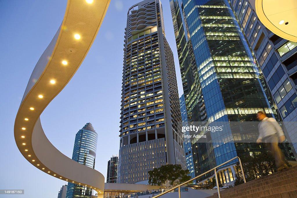 City Centre & Business District at Dusk, Brisbane