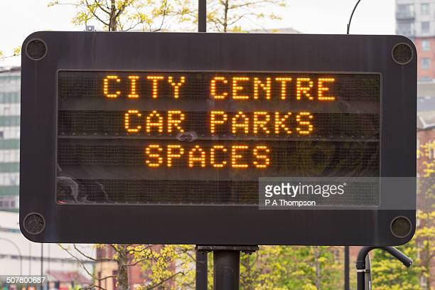 City centre car park sign
