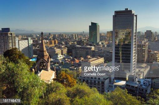 City centre of Santiago de Chile : Foto de stock