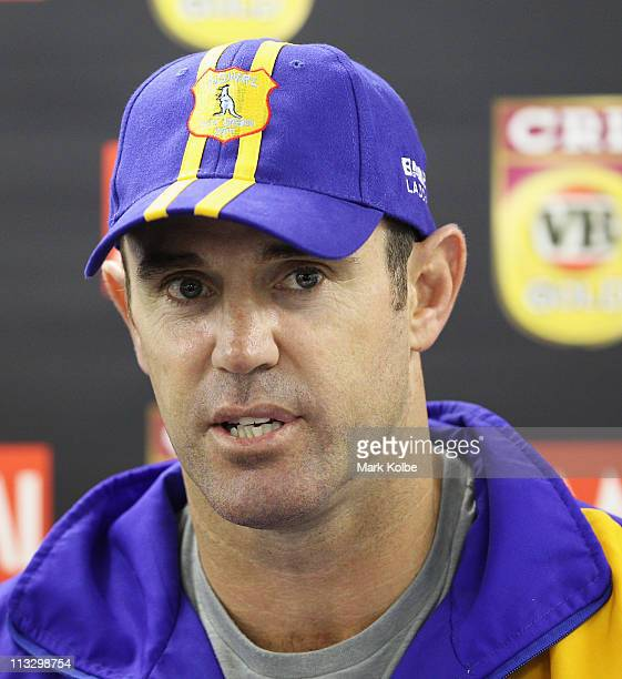 City coach Brad Fittler speaks to the media at the announcement of the City team for the City v Country origin match at a press conference after the...