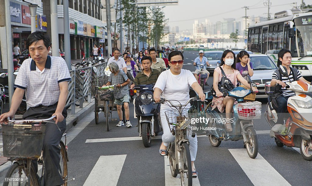 City commuters driving vehicles at rush hour : Stock Photo