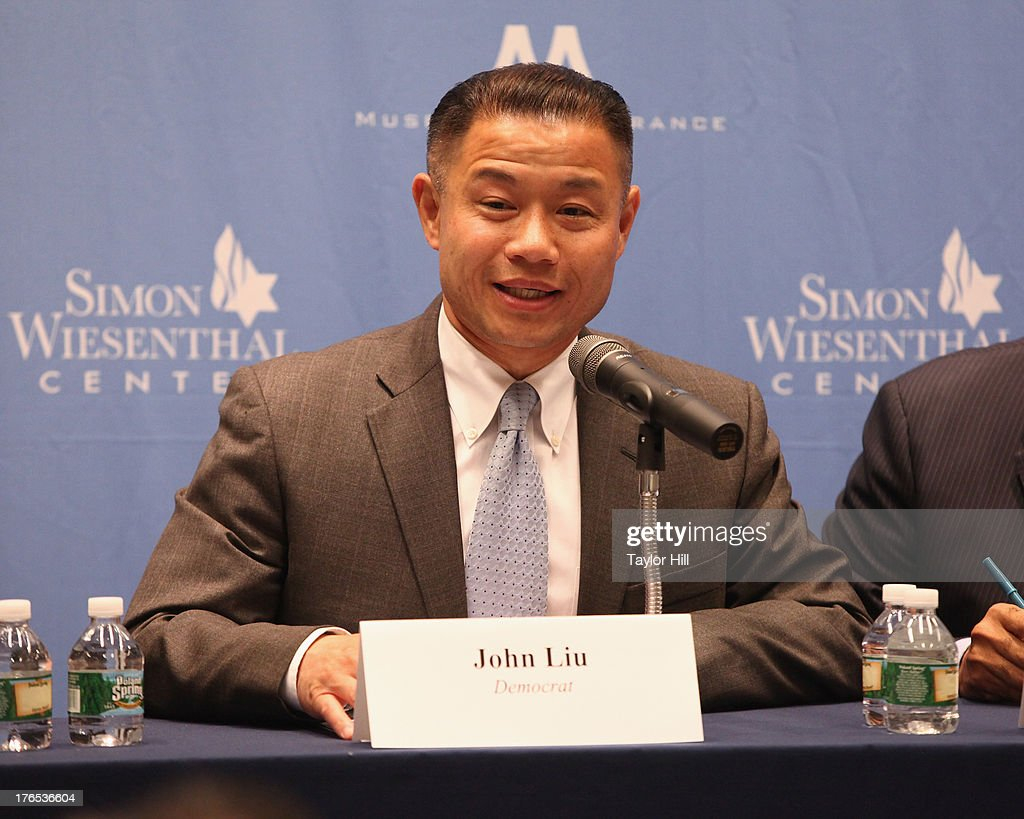 City comptroller John Liu attends The New York City Mayoral Forum on Cultural Sensitivity & Tolerance at the Museum of Tolerance on August 14, 2013 in New York City.