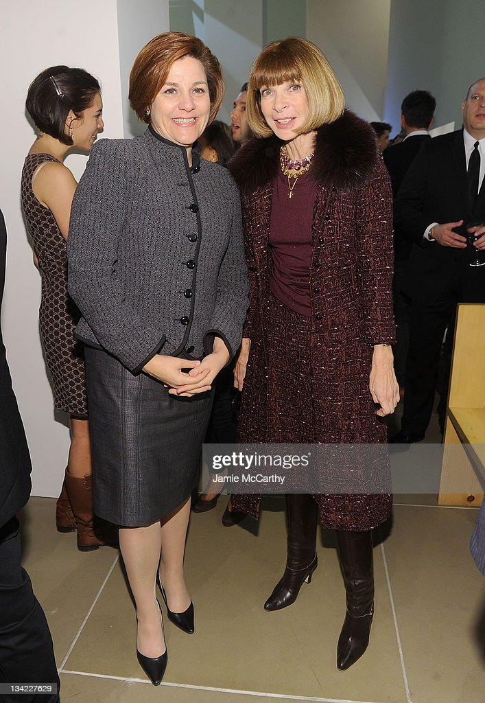 City Council Speaker Christine Quinn and Anna Wintour attend the Americans for Marriage Equality launch at Calvin Klein Collection on November 28...