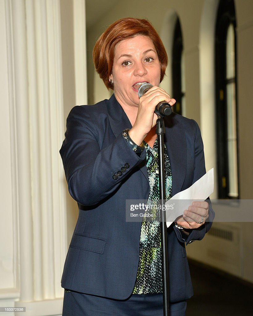 City Council Speaker Christine Quinn attends the Public Theater unveiling on October 4, 2012 in New York City.