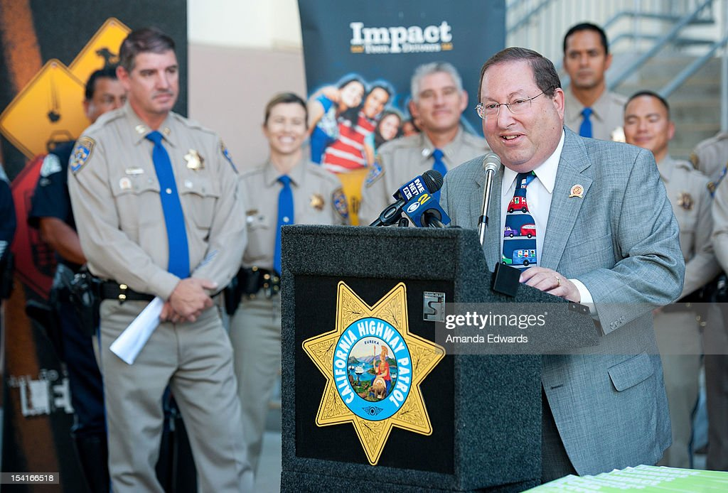 LA City Councilmember <a gi-track='captionPersonalityLinkClicked' href=/galleries/search?phrase=Paul+Koretz&family=editorial&specificpeople=2344758 ng-click='$event.stopPropagation()'>Paul Koretz</a> (R) attends the Mercedes-Benz Driving Academy Kicks-Off National Teen Driver Safety Week With Actress Hailee Steinfeld at Fairfax High School on October 15, 2012 in Los Angeles, California.